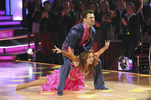 Leah Remini and Tony Dovolani dance the Samba on week 2 of &#39;Dancing With The Stars&#39; on Sept. 23, 2013. They received 24 out of 30 points from the judges. <span class=meta>(ABC Photo &#47; Adam Taylor)</span>