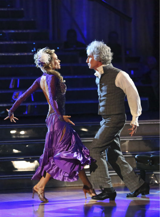 "<div class=""meta image-caption""><div class=""origin-logo origin-image ""><span></span></div><span class=""caption-text"">Bill Nye and Tyne Stecklein dance the Paso Doble on week 2 of 'Dancing With The Stars' on Sept. 23, 2013. They received 17 out of 30 points from the judges. (ABC Photo / Adam Taylor)</span></div>"