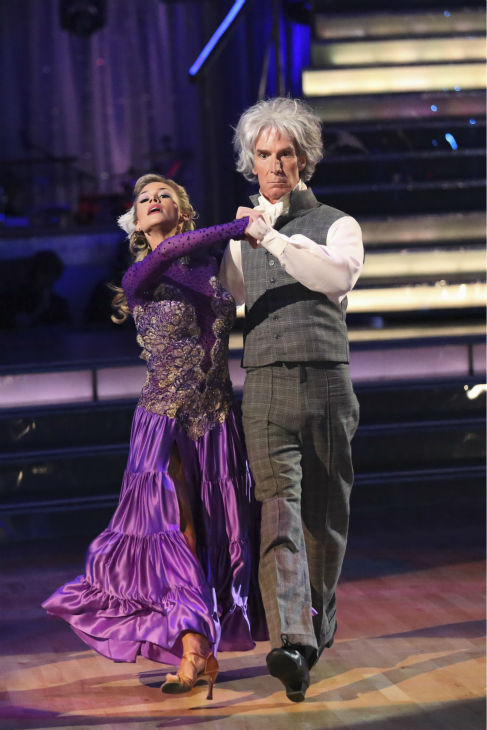 Bill Nye and Tyne Stecklein dance the Paso Doble on week 2 of &#39;Dancing With The Stars&#39; on Sept. 23, 2013. They received 17 out of 30 points from the judges. <span class=meta>(ABC Photo &#47; Adam Taylor)</span>