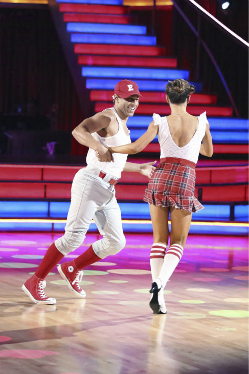 "<div class=""meta image-caption""><div class=""origin-logo origin-image ""><span></span></div><span class=""caption-text"">Corbin Bleu and Karina Smirnoff dance the Jive on week 2 of 'Dancing With The Stars' on Sept. 23, 2013. They received 26 out of 30 points from the judges. (ABC Photo / Adam Taylor)</span></div>"