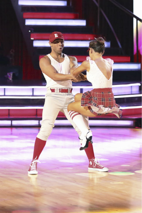 "<div class=""meta ""><span class=""caption-text "">Corbin Bleu and Karina Smirnoff dance the Jive on week 2 of 'Dancing With The Stars' on Sept. 23, 2013. They received 26 out of 30 points from the judges. (ABC Photo / Adam Taylor)</span></div>"
