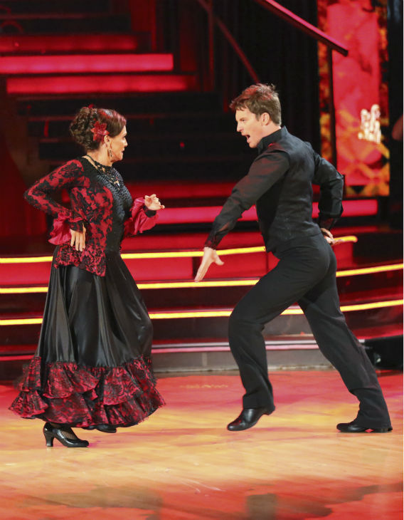 "<div class=""meta image-caption""><div class=""origin-logo origin-image ""><span></span></div><span class=""caption-text"">Valerie Harper and Tristan MacManus dance the Paso Doble on week 2 of 'Dancing With The Stars' on Sept. 23, 2013. They received 19 out of 30 points from the judges. (ABC Photo / Adam Taylor)</span></div>"