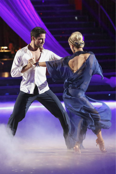 "<div class=""meta image-caption""><div class=""origin-logo origin-image ""><span></span></div><span class=""caption-text"">Brant Daugherty and Peta Murgatroyd danced the Rumba on week 2 of 'Dancing With The Stars' on Sept. 23, 2013. They received 23 out of 30 points from the judges. (ABC Photo / Adam Taylor)</span></div>"
