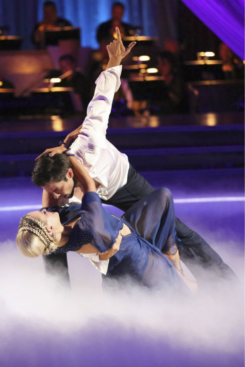 Brant Daugherty and Peta Murgatroyd danced the Rumba on week 2 of &#39;Dancing With The Stars&#39; on Sept. 23, 2013. They received 23 out of 30 points from the judges. <span class=meta>(ABC Photo &#47; Adam Taylor)</span>