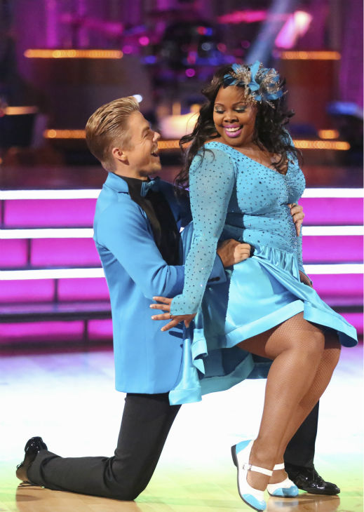 Amber Riley and Derek Hough dance the Jive on week 2 of &#39;Dancing With The Stars&#39; on Sept. 23, 2013. They received 24 out of 30 points from the judges. <span class=meta>(ABC Photo &#47; Adam Taylor)</span>