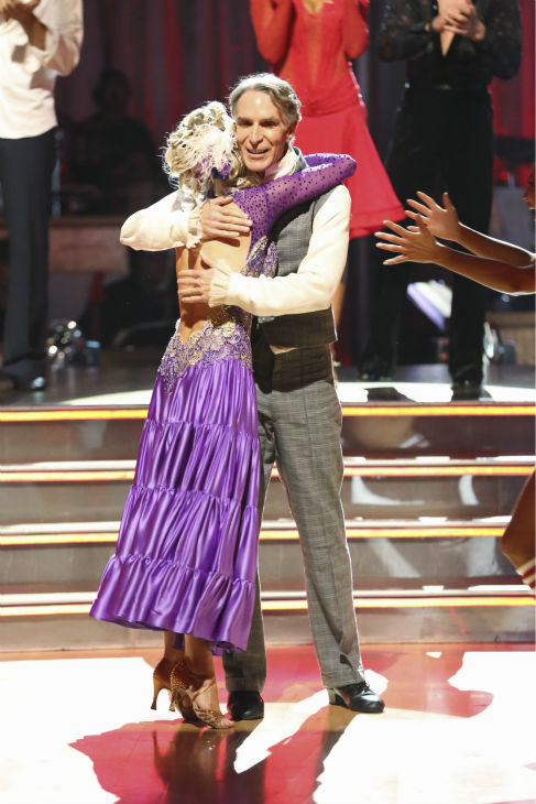 Bill Nye and Tyne Stecklein react to being safe on week 2 of &#39;Dancing With The Stars&#39; on Sept. 23, 2013. They received 17 out of 30 points from the judges for their Paso Doble. <span class=meta>(ABC Photo &#47; Adam Taylor)</span>