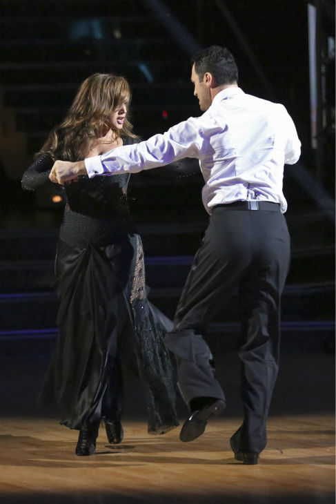 "<div class=""meta ""><span class=""caption-text "">Leah Remini and Tony Dovolani dance the Rumba on week three of 'Dancing With The Stars' on Sept. 30, 2013. They received 24 out of 30 points from the judges. (ABC Photo / Adam Taylor)</span></div>"