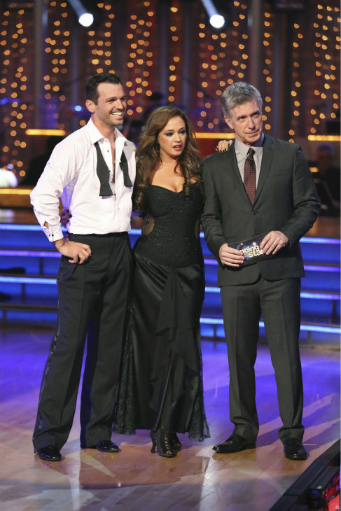 "<div class=""meta ""><span class=""caption-text "">Leah Remini and Tony Dovolani react to being safe on week three of 'Dancing With The Stars' on Sept. 30, 2013. They received 24 out of 30 points from the judges for their Rumba. (ABC Photo / Adam Taylor)</span></div>"