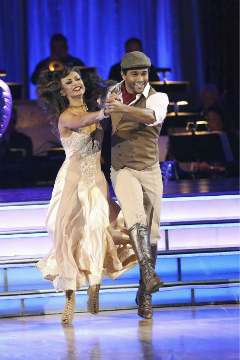 "<div class=""meta image-caption""><div class=""origin-logo origin-image ""><span></span></div><span class=""caption-text"">Corbin Bleu and Karina Smirnoff dance the Quickstep on week three of 'Dancing With The Stars' on Sept. 30, 2013. They received 26 out of 30 points from the judges. (ABC Photo / Adam Taylor)</span></div>"