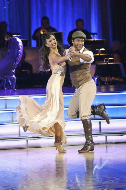 "<div class=""meta ""><span class=""caption-text "">Corbin Bleu and Karina Smirnoff dance the Quickstep on week three of 'Dancing With The Stars' on Sept. 30, 2013. They received 26 out of 30 points from the judges. (ABC Photo / Adam Taylor)</span></div>"