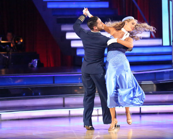 Elizabeth Berkley and Val Chmerkovskiy dance the Foxtrot on week three of &#39;Dancing With The Stars&#39; on Sept. 30, 2013. They received 25 out of 30 points from the judges. <span class=meta>(ABC Photo &#47; Adam Taylor)</span>