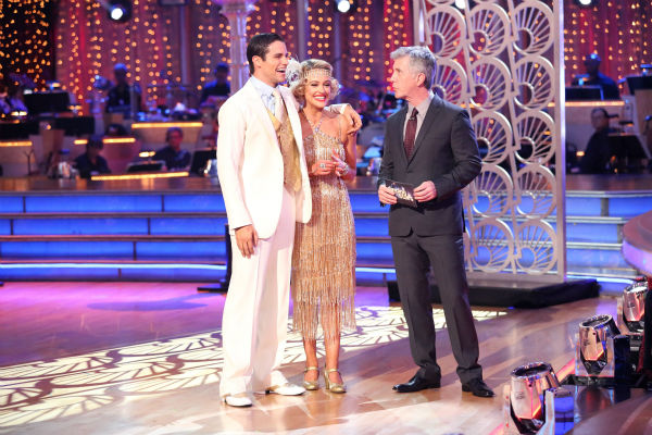 "<div class=""meta ""><span class=""caption-text "">Brant Daugherty and Peta Murgatroyd await their fate on week three of 'Dancing With The Stars' on Sept. 30, 2013. They received 27 out of 30 points from the judges for their Quickstep. (ABC Photo / Adam Taylor)</span></div>"