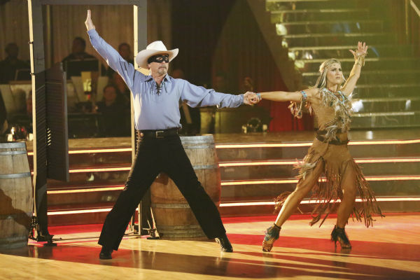 "<div class=""meta ""><span class=""caption-text "">Bill Engvall and Emma Slater dance the Paso Doble on week three of 'Dancing With The Stars' on Sept. 30, 2013. They received 24 out of 30 points from the judges. (ABC Photo / Adam Taylor)</span></div>"