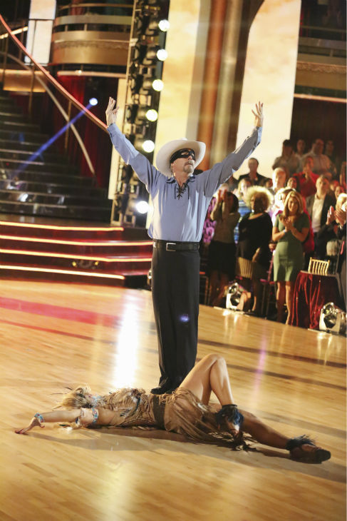 Bill Engvall and Emma Slater dance the Paso Doble on week three of &#39;Dancing With The Stars&#39; on Sept. 30, 2013. They received 24 out of 30 points from the judges. <span class=meta>(ABC Photo &#47; Adam Taylor)</span>