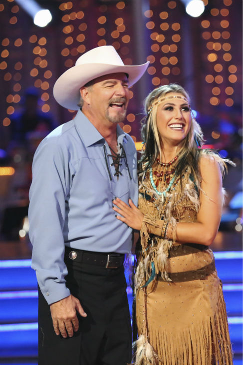 Bill Engvall and Emma Slater dance the Paso Doble on week three of 'Dancing With The Stars' on Sept. 30, 2013. They received 24 out of 30 points from the judges.