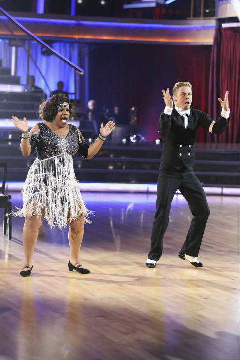 Amber Riley and Derek Hough dance the Charleston on week three of &#39;Dancing With The Stars&#39; on Sept. 30, 2013. They received 24 out of 30 points from the judges. <span class=meta>(ABC Photo &#47; Adam Taylor)</span>