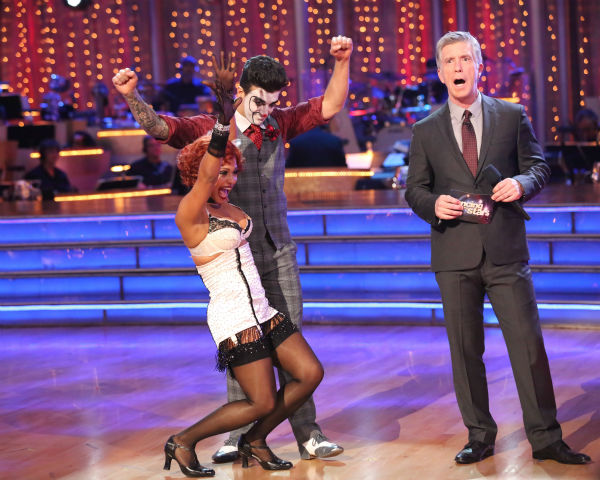 "<div class=""meta image-caption""><div class=""origin-logo origin-image ""><span></span></div><span class=""caption-text"">Christina Milian and Mark Ballas react to being safe on week three of 'Dancing With The Stars' on Sept. 30, 2013. They received 26 out of 30 points from the judges for their Charleston. (ABC Photo / Adam Taylor)</span></div>"