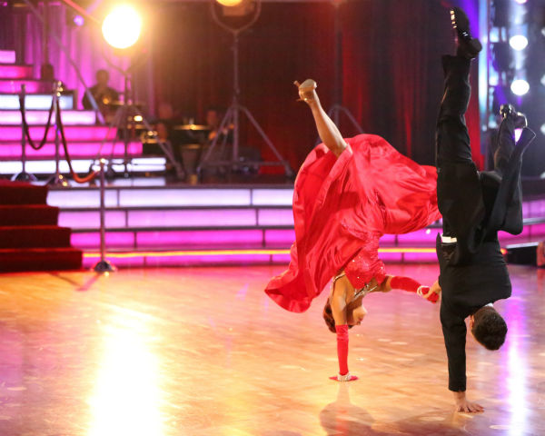 "<div class=""meta ""><span class=""caption-text "">Nicole 'Snooki' Polizzi and Sasha Farber dance the Quickstep on week three of 'Dancing With The Stars' on Sept. 30, 2013. They received 25 out of 30 points from the judges. (ABC Photo / Adam Taylor)</span></div>"