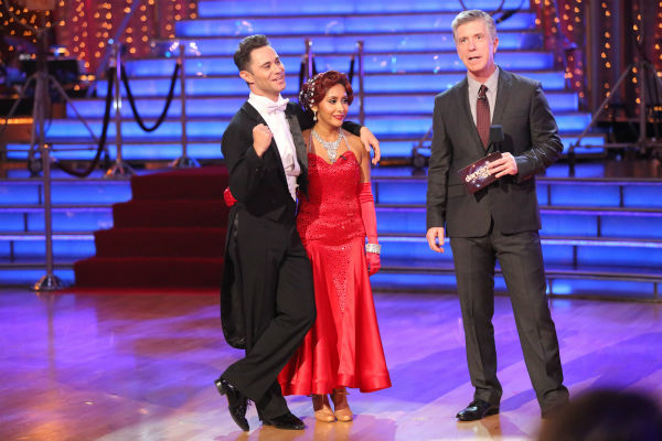 Nicole &#39;Snooki&#39; Polizzi and Sasha Farber await their fate on week three of &#39;Dancing With The Stars&#39; on Sept. 30, 2013. They received 25 out of 30 points from the judges for their Quickstep. <span class=meta>(ABC Photo &#47; Adam Taylor)</span>