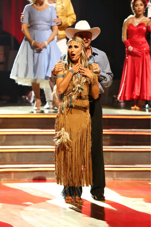 "<div class=""meta ""><span class=""caption-text "">Bill Engvall and Emma Slater await their fate on week three of 'Dancing With The Stars' on Sept. 30, 2013. They received 24 out of 30 points from the judges for their Paso Doble. (ABC Photo / Adam Taylor)</span></div>"