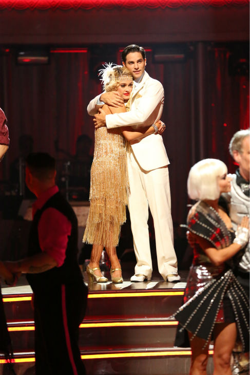 Brant Daugherty and Peta Murgatroyd react to being safe on week three of &#39;Dancing With The Stars&#39; on Sept. 30, 2013. They received 27 out of 30 points from the judges for their Quickstep. <span class=meta>(ABC Photo &#47; Adam Taylor)</span>