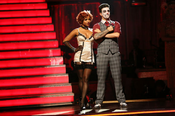 "<div class=""meta ""><span class=""caption-text "">Christina Milian and Mark Ballas await their fate on week three of 'Dancing With The Stars' on Sept. 30, 2013. They received 26 out of 30 points from the judges for their Charleston. (ABC Photo / Adam Taylor)</span></div>"
