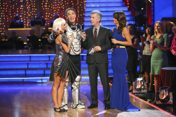 "<div class=""meta ""><span class=""caption-text "">Bill Nye and Tyne Stecklein react to being eliminated on week three of 'Dancing With The Stars' on Sept. 30, 2013. They received 16 out of 30 points from the judges for their Jazz. (ABC Photo / Adam Taylor)</span></div>"