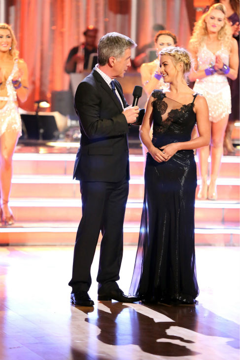 &#39;Dancing With The Stars&#39; alum Julianne Hough appears with co-host Tom Bergeron on week four of the ABC show on Oct. 7, 2013.  <span class=meta>(ABC Photo &#47; Adam Taylor)</span>