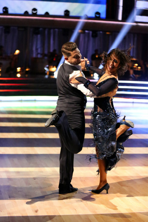 "<div class=""meta ""><span class=""caption-text "">Jack Osbourne and Cheryl Burke dance the Quickstep on week four of 'Dancing With The Stars' on Oct. 7, 2013. They received 24 out of 30 points from the judges. (ABC Photo / Adam Taylor)</span></div>"