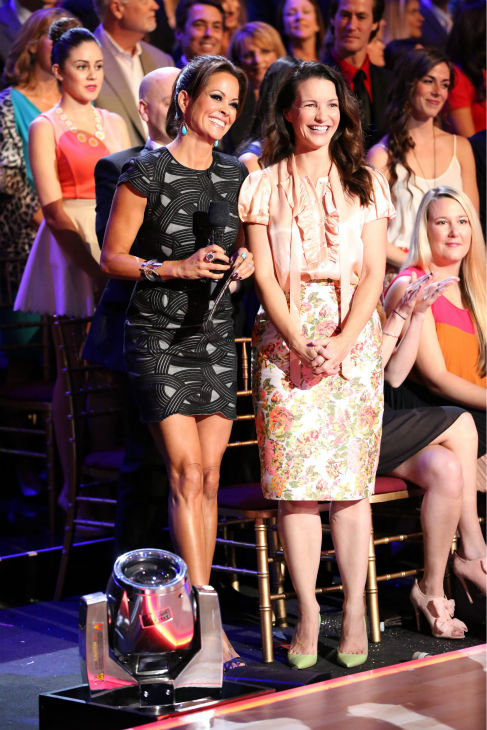 &#39;Sex and the City&#39; actress Kristin Davis appears with co-host Brooke Burke-Charvet on week four of &#39;Dancing With The Stars&#39; on Oct. 7, 2013. <span class=meta>(ABC Photo &#47; Adam Taylor)</span>
