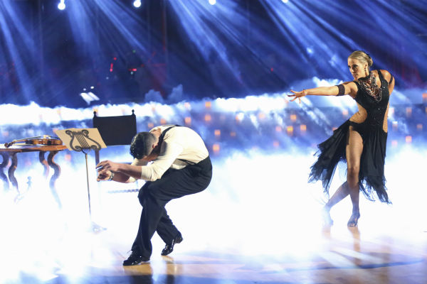 "<div class=""meta image-caption""><div class=""origin-logo origin-image ""><span></span></div><span class=""caption-text"">Elizabeth Berkley and Val Chmerkovskiy dance the Argentine Tango on week four of 'Dancing With The Stars' on Oct. 7, 2013. They received 27 out of 30 points from the judges. (ABC Photo / Adam Taylor)</span></div>"