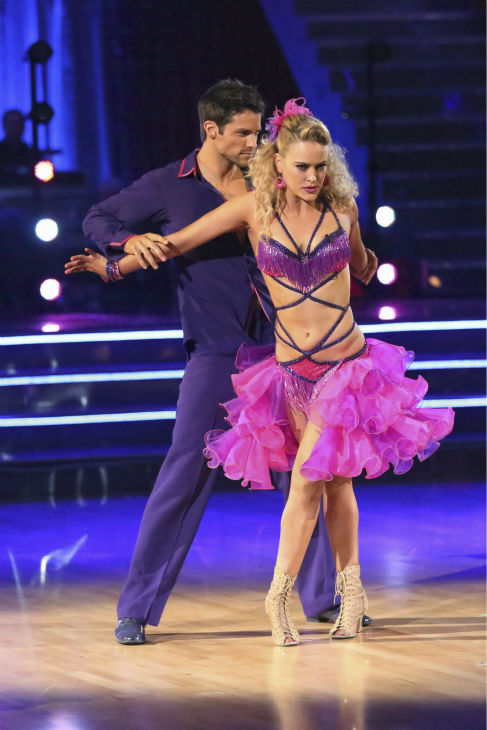 Brant Daugherty and Peta Murgatroyd dance the Salsa on week four of &#39;Dancing With The Stars&#39; on Oct. 7, 2013. They received 21 out of 30 points from the judges. <span class=meta>(ABC Photo &#47; Adam Taylor)</span>