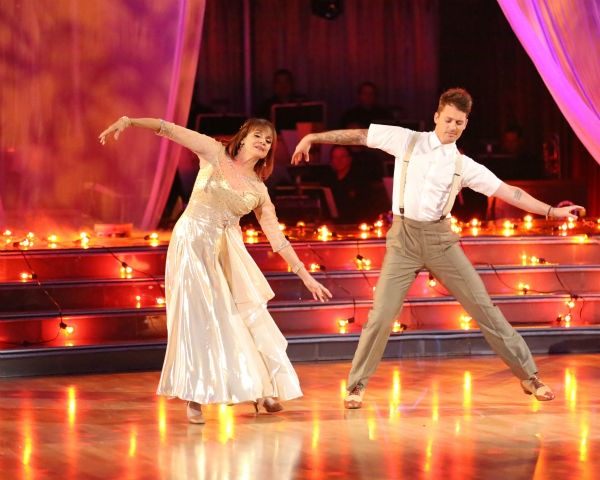 Valerie Harper and Tristan MacManus dance the Viennese Waltz on week four of 'Dancing With The Stars' on Oct. 7, 2013. They received 18 out of 30 points from the judges.