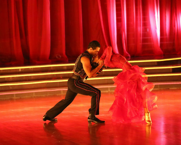 "<div class=""meta ""><span class=""caption-text "">Corbin Bleu and Karina Smirnoff dance the Paso Doble on week four of 'Dancing With The Stars' on Oct. 7, 2013. They received 27 out of 30 points from the judges. (ABC Photo / Adam Taylor)</span></div>"