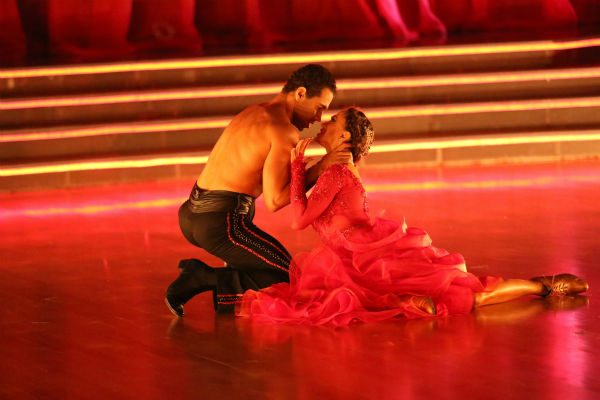 "<div class=""meta image-caption""><div class=""origin-logo origin-image ""><span></span></div><span class=""caption-text"">Corbin Bleu and Karina Smirnoff dance the Paso Doble on week four of 'Dancing With The Stars' on Oct. 7, 2013. They received 27 out of 30 points from the judges. (ABC Photo / Adam Taylor)</span></div>"