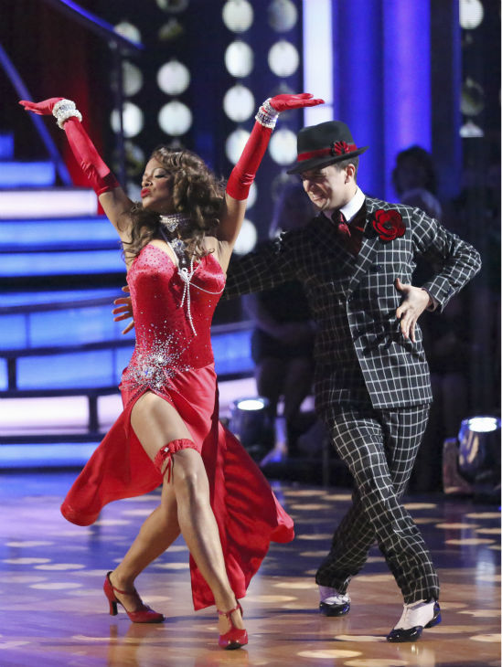 "<div class=""meta image-caption""><div class=""origin-logo origin-image ""><span></span></div><span class=""caption-text"">Christina Milian and Mark Ballas dance the Foxtrot on week four of 'Dancing With The Stars' on Oct. 7, 2013. They received 24 out of 30 points from the judges. (ABC Photo / Adam Taylor)</span></div>"