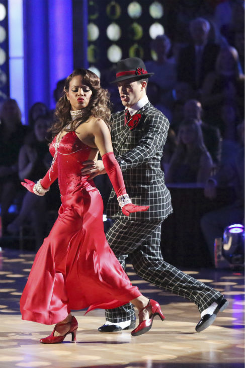 Christina Milian and Mark Ballas dance the Foxtrot on week four of &#39;Dancing With The Stars&#39; on Oct. 7, 2013. They received 24 out of 30 points from the judges. <span class=meta>(ABC Photo &#47; Adam Taylor)</span>