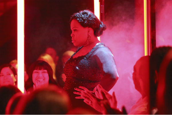 Amber Riley dances the Tango on week four of &#39;Dancing With The Stars&#39; on Oct. 7, 2013. She and partner Derek Hough received 27 out of 30 points from the judges. <span class=meta>(ABC Photo &#47; Adam Taylor)</span>