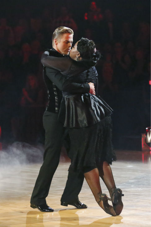 Amber Riley and Derek Hough dance the Tango on week four of &#39;Dancing With The Stars&#39; on Oct. 7, 2013. They received 27 out of 30 points from the judges. <span class=meta>(ABC Photo &#47; Adam Taylor)</span>