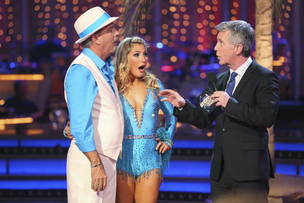 Bill Engvall and Emma Slater await their fate on week four of &#39;Dancing With The Stars&#39; on Oct. 7, 2013. They received 21 out of 30 points from the judges for their Samba. <span class=meta>(ABC Photo &#47; Adam Taylor)</span>