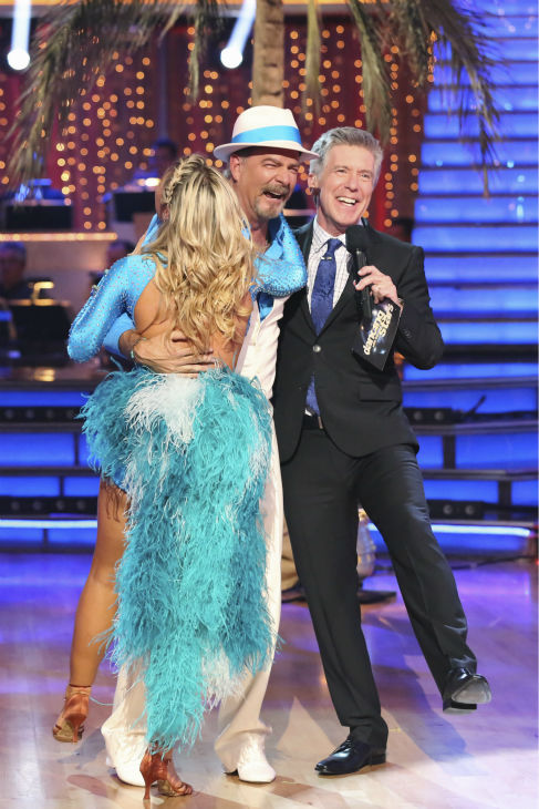Bill Engvall and Emma Slater react to being eliminated on week four of &#39;Dancing With The Stars&#39; on Oct. 7, 2013. They received 21 out of 30 points from the judges for their Samba. <span class=meta>(ABC Photo &#47; Adam Taylor)</span>