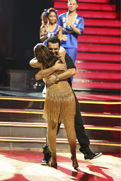 Leah Remini and Tony Dovolani react to being safe on week four of &#39;Dancing With The Stars&#39; on Oct. 7, 2013. They received 24 out of 30 points from the judges for their Cha Cha Cha. <span class=meta>(ABC Photo &#47; Adam Taylor)</span>