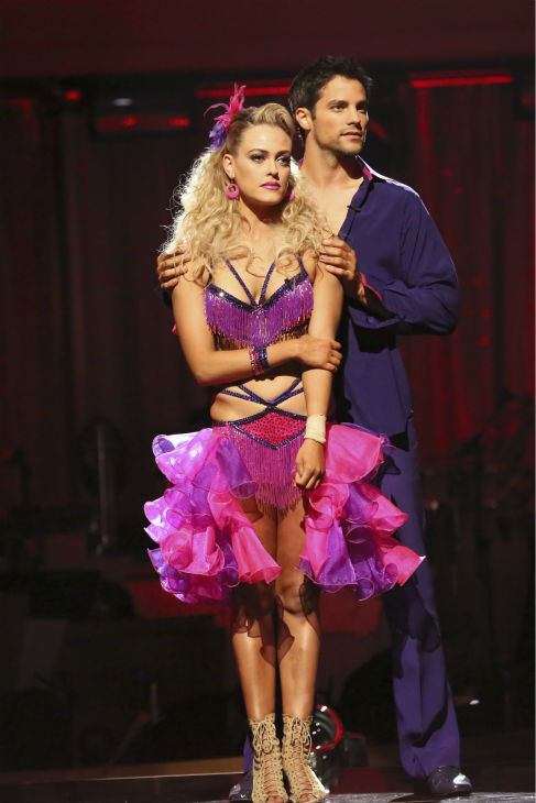 Brant Daugherty and Peta Murgatroyd await their fate on week four of &#39;Dancing With The Stars&#39; on Oct. 7, 2013. They received 21 out of 30 points from the judges for their Salsa. <span class=meta>(ABC Photo &#47; Adam Taylor)</span>