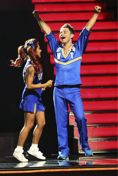 Nicole &#39;Snooki&#39; Polizzi and Sasha Farber find out they are safe from elimination on week four of &#39;Dancing With The Stars&#39; on Oct. 7, 2013. They received 24 out of 30 points from the judges for their Jive. <span class=meta>(ABC Photo &#47; Adam Taylor)</span>
