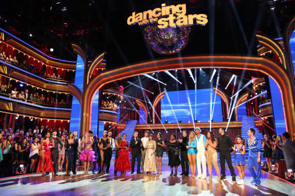 The cast of 'Dancing With The Stars' appears on stage on week 4 on Oct. 7, 2013.