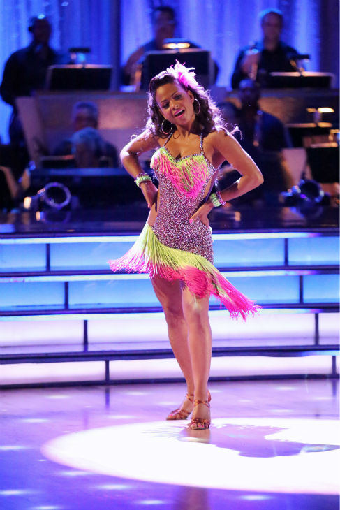 Christina Milian and Mark Ballas &#40;not pictured&#41; dance the Cha Cha Cha on week five of &#39;Dancing With The Stars&#39; on Oct. 14, 2013. They received 28 out of 30 points from the judges. <span class=meta>(ABC Photo &#47; Adam Taylor)</span>