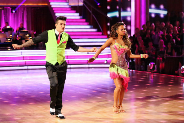Christina Milian and Mark Ballas dance the Cha Cha Cha on week five of &#39;Dancing With The Stars&#39; on Oct. 14, 2013. They received 28 out of 30 points from the judges. <span class=meta>(ABC Photo &#47; Adam Taylor)</span>