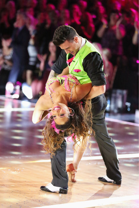 "<div class=""meta image-caption""><div class=""origin-logo origin-image ""><span></span></div><span class=""caption-text"">Christina Milian and Mark Ballas dance the Cha Cha Cha on week five of 'Dancing With The Stars' on Oct. 14, 2013. They received 28 out of 30 points from the judges. (ABC Photo / Adam Taylor)</span></div>"