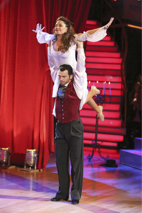 Leah Remini and Tony Dovolani dance Contemporary on week five of &#39;Dancing With The Stars&#39; on Oct. 14, 2013. They received 22 out of 30 points from the judges. <span class=meta>(ABC Photo &#47; Adam Taylor)</span>