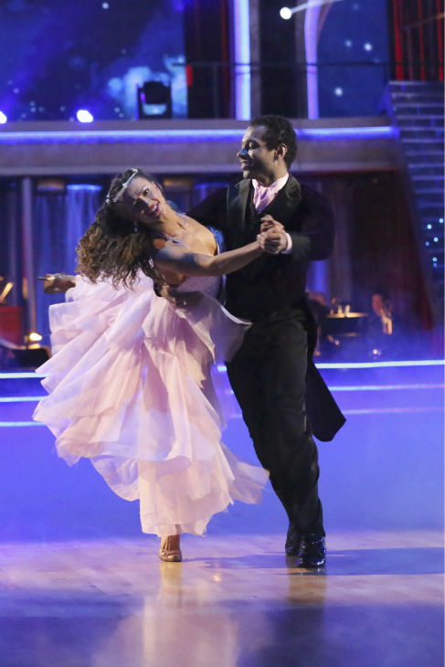 "<div class=""meta image-caption""><div class=""origin-logo origin-image ""><span></span></div><span class=""caption-text"">Corbin Bleu and Karina Smirnoff dance the Foxtrot on week five of 'Dancing With The Stars' on Oct. 14, 2013. They received 28 out of 30 points from the judges. (ABC Photo / Adam Taylor)</span></div>"